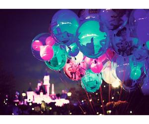 disneyland, balloons, and disney image