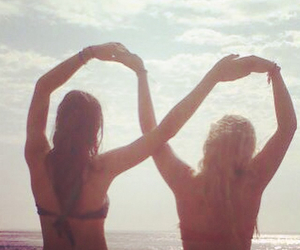 beach, bestfriends, and unending image