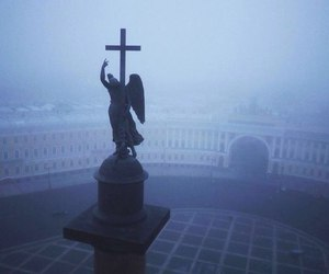fog, russia, and angel image