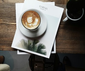 coffee, touch, and magazine image