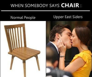 chair, gossip girl, and chuck bass image