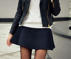 chic, girl, and jacket image