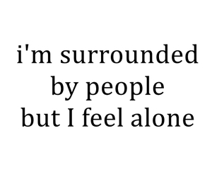 alone, feelings, and people image