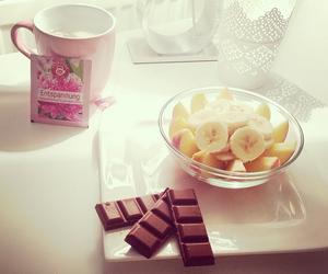 banana, chocolate, and food image