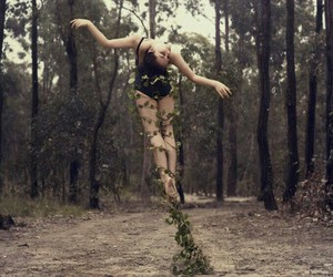 earth, girl, and vines image
