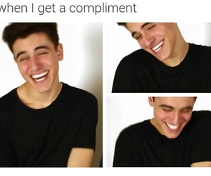 funny, jack gilinsky, and compliment image