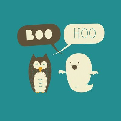owl, ghost, and boo image