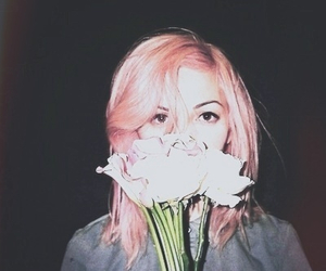 grunge, flowers, and girl image