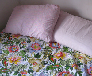 bed, flower, and cute image