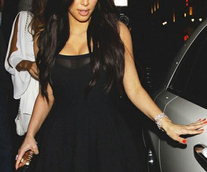 kim kardashian, dress, and kim image