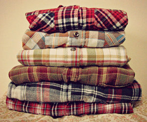 flannel, clothes, and outfit image