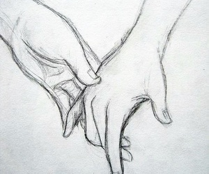 draw, hands, and love image