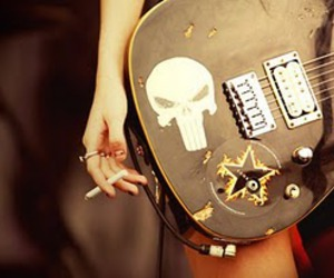 guitar, Taylor Momsen, and rock image