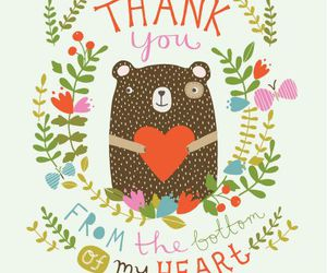 bear, flowers, and heart image