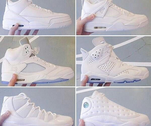 shoes, white, and jordans image