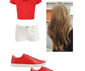 girl, hair, and Polyvore image