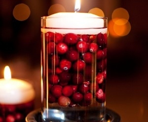 centerpieces, cranberries, and decor image
