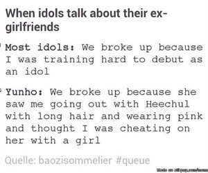 funny, girlfriend, and heechul image