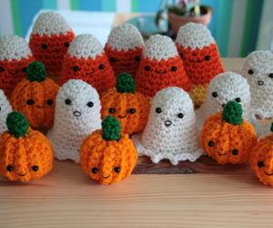 amigurumi, crochet, and Halloween image