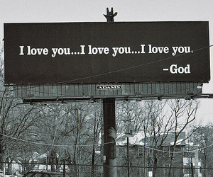 god, religion, and love image