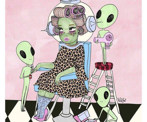 alien, valfre, and pink image