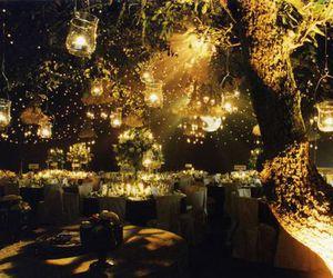 light, wedding, and tree image