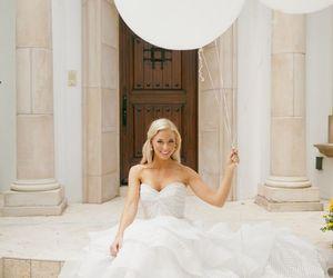 dress, bridal, and wedding image