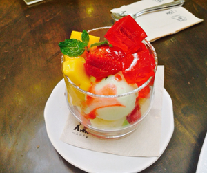 fruit, jelly, and ice cream image