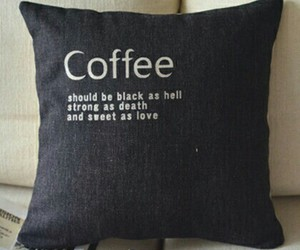 coffee, black, and pillow image