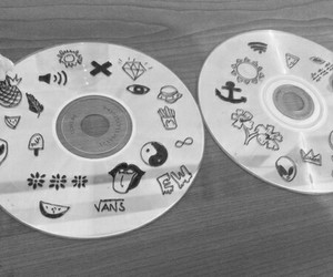 cd, grunge, and black image