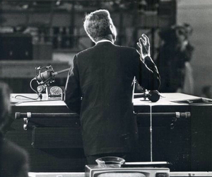 black and white, president, and JFK image