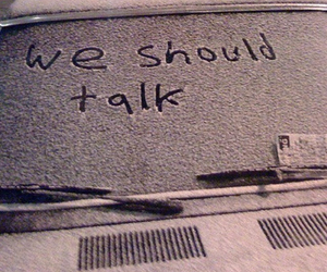 snow, car, and talk image