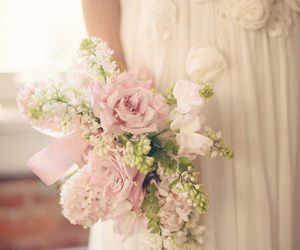 bouquet, beautiful, and flowers image