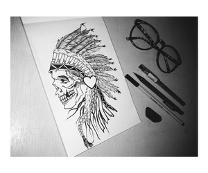 black, drawing, and feather image