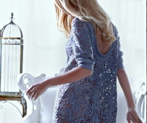 dress, lace, and blonde image