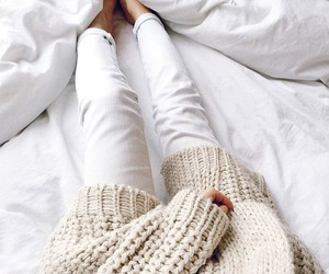 fashion, white, and sweater image