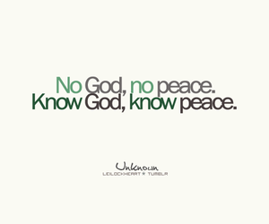 god and peace image