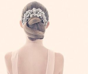 hair, pretty, and wedding image