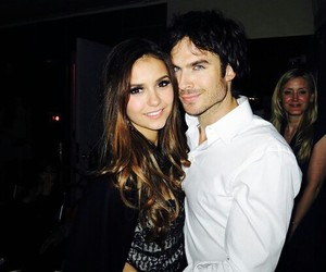 ian somerhalder, Nina Dobrev, and couple image