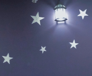 background, room, and stars image
