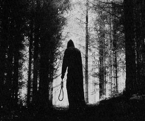 black and white and creepy image