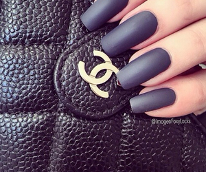 beauty, black, and chanel image