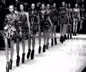 model, fashion, and Alexander McQueen image