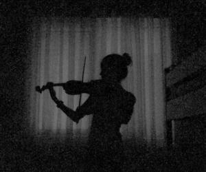 music, girl, and violin image