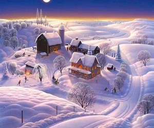 beauty, winter, and magic image