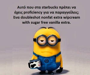 minions, funny, and starbucks image