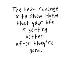 quote, revenge, and life image