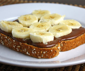 banana, nutella, and food image