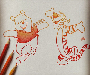 drawing, winnie the pooh, and artistiq image