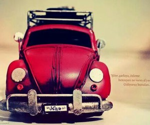 car, pretty, and red image